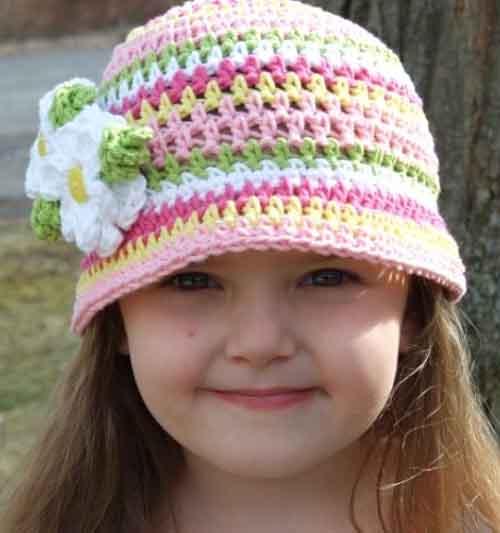 Вязание крючком детские шапочки схема и 30