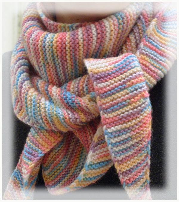 вязание шарфа спицами для начинающих